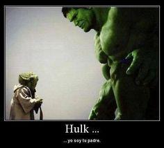 Yoda y Hulk
