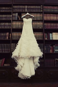 Dress is pretty but LOVE the background of the books!