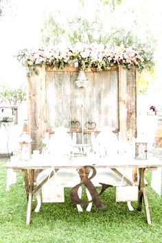 2019 Top 14 Must See Rustic Wedding Ideas for a Memorable Big Day---Rustic wedding idea for sweetheart table - wood barn door backdrop + pink flower garland, country wedding decorartions, garden weddings, backyard wedding ideas ,diy wedding on a budget Rustic Wedding Showers, Rustic Wedding Reception, Fall Wedding, Dream Wedding, Barn Door Wedding, Reception Table, Wedding Tables, Bride Groom Table, Grooms Table