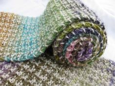 """Noro Slip Stitch """"Herringbone"""" Scarf.  This is just beautiful and the use of two yarns is a lovely effect."""