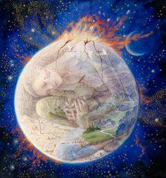 "Blessings to Gaia and All Beings on Earth Day! Artist ~ ""Gaia"" by Kinuko Y. Sacred Feminine, Divine Feminine, Josephine Wall, Gaia, Cosmic Egg, Art Visionnaire, Temple Of Light, Earth Goddess, Goddess Art"