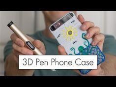 3D Pen Phone Case with the Dewang X4 Pen // 3D Printing Pen Review - YouTube 3d Drawing Pen, 3d Pen, Diy Phone Case, Phone Cases, Stylo 3d, 3d Printing Diy, 3d Printer, 3 D, Stencils