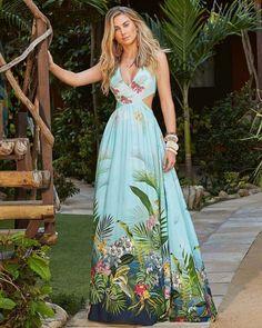 Image gallery – Page 292945150760936847 – Artofit Beautiful Maxi Dresses, Cute Summer Dresses, Casual Dresses, Short Dresses, Fashion Dresses, Tropical Dress, Floral Print Maxi Dress, Floral Fashion, Western Dresses