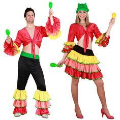 Pareja Disfraces de Rumberos #parejas #disfraces #carnaval