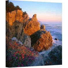Dean Uhlinger Big Sur Sunset Gallery-Wrapped Canvas, Size: 24 x 24, Blue