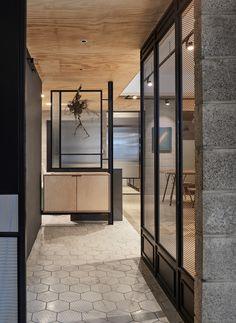 Cheese Photography on Behance Corridor Design, Foyer Design, Entrance Design, House Design, Living Room Interior, Home Interior, Modern Interior Design, Interior Decorating, Office Entrance