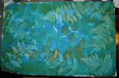 fabric dyeing for beginners by Vickie Taylor-Hood. ferns fabric