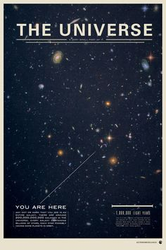 A poster series, showing the very humbling experience that the universe provides for us all.