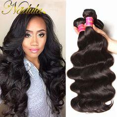 4 번들 브라질 바디 웨이브 100 그램 7A 처리되지 않은 브라질 처녀 머리 바디 웨이브 Nadula 헤어 제품 최고 브라질 인간의 머리