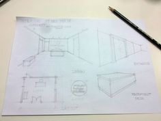 Draft Interior Design Concept Sketch
