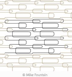 Digital Quilting Design Paper Clips by Mike Fountain