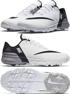 45524bfc603d4 Golf Shoes 181136  2017 Nike Fi Flex Golf Shoes Mens Medium 849960-100  White Black -  BUY IT NOW ONLY   80.74 on eBay!
