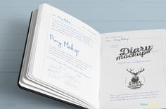 Customize this Free Diary Mockup with your notes for unique presentation. #Free #freebie #psd #mockup #Photoshop #stationery #notebook #diary #opendiary #openbook #freemockup
