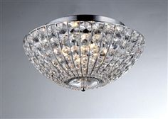 Shop for Hermes Crystal Chrome Ceiling Lamp. Get free delivery On EVERYTHING* Overstock - Your Online Ceiling Lighting Store! Stained Glass Lighting, Chrome, Bling Light, Tiffany Style Table Lamps, Ceiling Lamp, Chandeliers And Pendants, Warehouse Of Tiffany, Chrome Chandeliers, Ceiling Lights