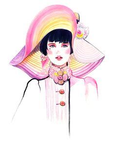 Chanel Resort 2013 - Sunny Gu #fashion #illustration #fashionillustration