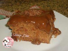 Bolo de chocolate com creme de brigadeiro