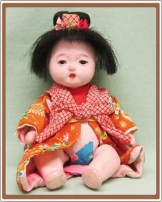 """Vintage """"Made In Japan"""" Jointed Bisque Baby Doll"""