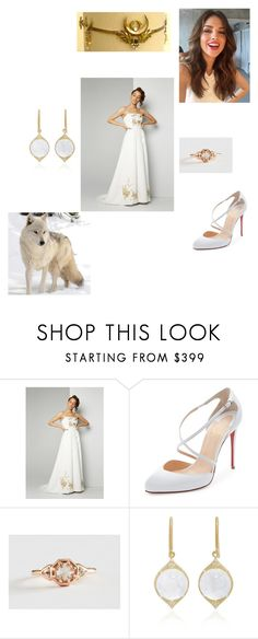 """""""Aria"""" by x-nadia-bmth ❤ liked on Polyvore featuring Fame & Partners, Christian Louboutin, Lauren Wolf and Jamie Wolf"""