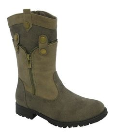 This Brown Nancy Boot by Yokids is perfect! #zulilyfinds