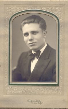 """Charles J Goff  """"Charlie""""  possibly born September 10,1909.   Photo taken at Tucker Studio Covina, California. Still trying to figure out if he was adopted, a nephew or how he is related to us."""