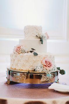 Traditional Yet Glam University Club Pittsburgh Wedding. For more wedding inspiration, visit burghbrides.com! #ballroomwedding #weddingreceptiondecor #weddingcake #pinkfloralweddingcake