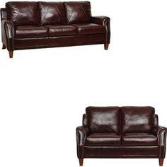 Luke Leather - Austin Sienna Italian Leather Living Room Set - Austin-SL