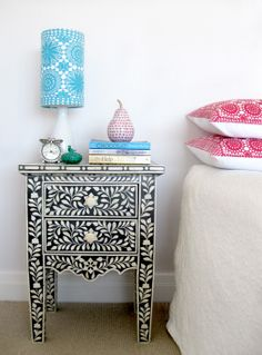 Cush and Nooks: Christmas, New Year & A New Venture | Patterned Side table