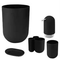 Image detail for -... Touch Bath Accessories Set Black reviews and prices - Bathroom Review