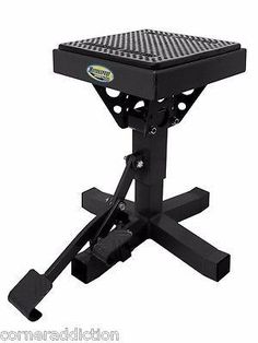 Motorsport Products P-12 Adjustable Lift Stand - 92-4012 BLACK