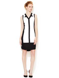 ICB - Abstract Colorblocked Sheath Dress