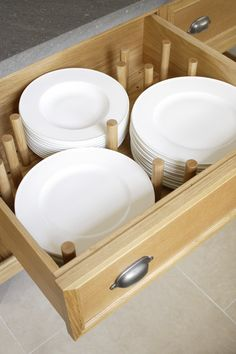 Storage in drawers in your kitchen.  Transitional Kitchen by Artichoke