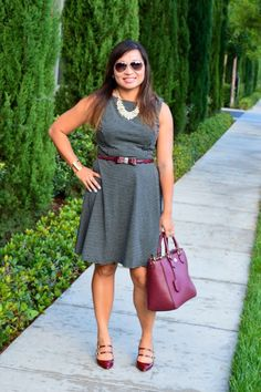 Throw Back Thursday Fashion Link Up: Polka Dot Flare Dress