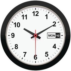 "Timekeeper 12"" Day & Date Wall Clock"