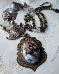 french revolution  vintage assemblage necklace by TheFrenchCircus, $155.00