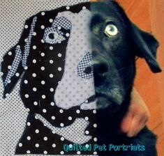 Pet portrait Art quilt tutorial. Instructions to make one for my own pet! What a great memorial for my departed baby.