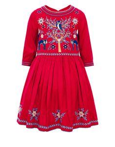 Foxy Dress | Red | Monsoon