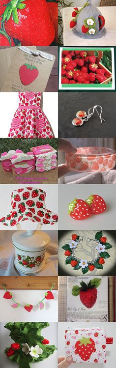 Strawberry fields forever by onelittlepug on Etsy