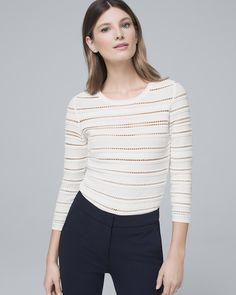 677c67dabb425a Women s Open-Stitch Sweater by White House Black Market