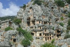 Myra, Turkey - Although some scholars equate Myra with the town Mira in Arzawa, there is no proof for the connection. There is no substantiated written reference for Myra before it was listed as a member of the Lycian alliance (168 BC – AD 43); according to Strabo (14:665) it was one of the largest towns of the alliance.  The Greek citizens worshipped Artemis Eleutheria, who was the protective goddess of the town. Zeus, Athena and Tyche were venerated as well. Antalya Demre Turkiye