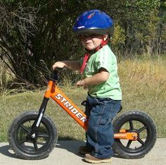 18 month old - this isn't to sew, but what a great idea!  Teach balance to your toddler as he uses his feet on the ground to make it go.  Seems like a natural transition to a regular bike.