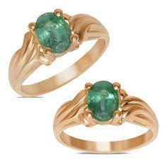 Ebay NissoniJewelry presents - Ladies Fashion Ring w/ Emerald 10k Y/Gold    Model Number:FR8855-Y0EM    http://www.ebay.com/itm/Ladies-Fashion-Ring-w-Emerald-10k-Y-Gold-/222062065613