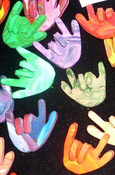 sign language I LOVE YOU polymer clay pin or by wiredbyragona Simple Sign Language, Sign Language For Kids, Sign Language Phrases, Sign Language Alphabet, Sign Language Interpreter, British Sign Language, Learn A New Language, Libra, Learn Asl Online