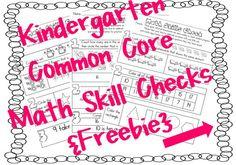Common Core SUPER FREEBIE! 22 Common Core aligned math skill checks...Kindergarten! via Kari Pyle West