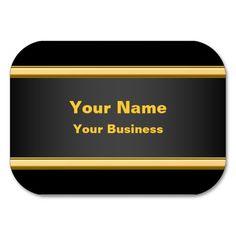 Minimalist Black Metallic Business Cards