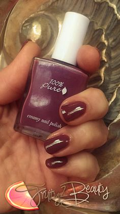 I'm in love with Pure Nail Polish Free of the common carcinogens in most nail polish XO Vegan Beauty, 100 Pure, Nail Polish, Pure Products, Nails, Free, Finger Nails, Ongles, Nail