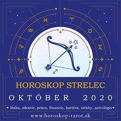 Presný mesačný Horoskop - Október 2020 pre znamenie zverokruhu Strelec. Bude október pre Streleca úspešným mesiacom? Aký je Horoskop Október 2020 Strelec, alebo pre iné znamenia zverokruhu? Prečítajte si, čo si Horoskop a osud pripravili pre znamenie Strelec počas mesiaca Október 2020 v otázkach zdravia, lásky, vzťahov, práce, peňazí, kariéry, rodiny alebo priateľstva ... Kompletný mesačný Horoskop. #StrelecOktober2020 #HoroskopOktober2020 #MesacnyHoroskop Sagittarius Monthly Horoscope, October Horoscope, Sagittarius Astrology, Cancer Horoscope, Daily Horoscope, Tarot, Astrology Predictions, Zodiac Signs