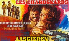 """Caza implacable (1971) """"The Hunting Party"""" -- Reparto Oliver Reed, Gene Hackman, Candice Bergen, Simon Oakland, Ronald Howard"""
