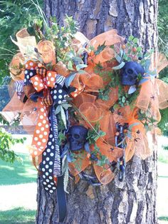 wreath?  Cute idea-never thought about putting this on a tree.