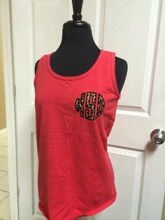 Comfort Colors Tank/ Personalized Tank/ Personalized Comfort Colors Tank/ Comfort Colors/ Monogram Comfort Colors Tank/ Monogram Tank by monogramcentralLA on Etsy