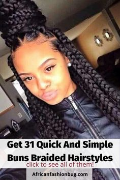 See the latest quick and simple bun braided hairstyles for especially for black women. #bunsbraidstyles #braidedhairstyles Poetic Justice Braids, Poetic Braids, Blonde Box Braids, Braids For Black Hair, Blonde Hair, Hair Afro, Men's Hair, Curly Hair Styles, Natural Hair Styles